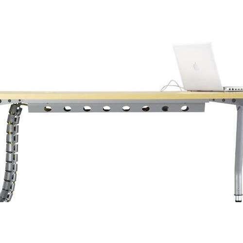 テーブル(会議用) 天板上下昇降式 キャスター脚 SHWT-1890EC W1800×D900×H680~740(mm) タマゴ形(卵形)天板 ワイヤリングテーブル商品画像4