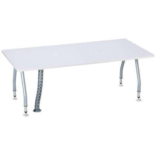 【廃番】テーブル(会議用) アイコ 天板上下昇降式 4本固定脚 SHWT-1890KP W1800×D900×H665~725(mm) 角形天板 ワイヤリングテーブルのメイン画像
