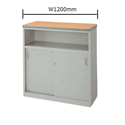 カウンター ハイカウンター SNC型 錠付き・棚付きタイプ SNC1290K W1200×D460×H950(mm)のメイン画像