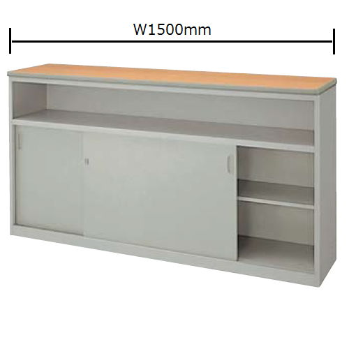 カウンター ハイカウンター SNC型 錠付き・棚付きタイプ SNC1590K W1500×D460×H950(mm)商品画像2