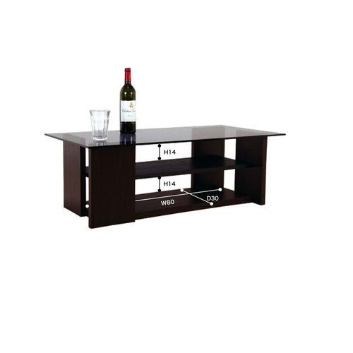 センターテーブル AZUMAYA(東谷) SO-100BR 8mm強化スモークガラス ブラウンカラー W1000×D500×H340(mm)商品画像2