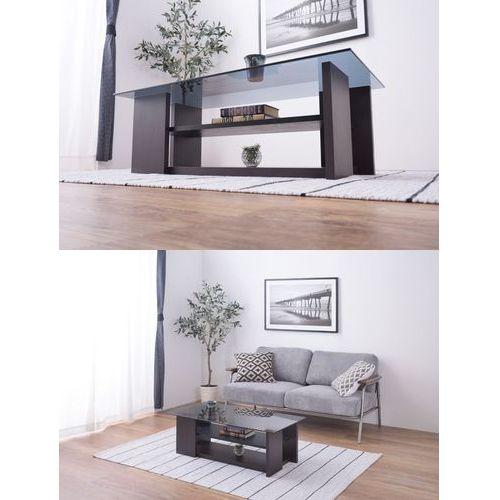 センターテーブル AZUMAYA(東谷) SO-100BR 8mm強化スモークガラス ブラウンカラー W1000×D500×H340(mm)商品画像3