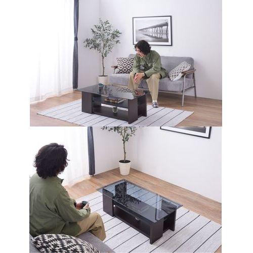 センターテーブル AZUMAYA(東谷) SO-100BR 8mm強化スモークガラス ブラウンカラー W1000×D500×H340(mm)商品画像5
