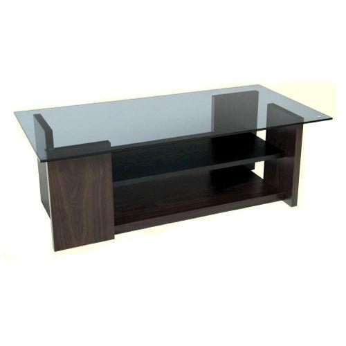 センターテーブル AZUMAYA(東谷) SO-100BR 8mm強化スモークガラス ブラウンカラー W1000×D500×H340(mm)のメイン画像