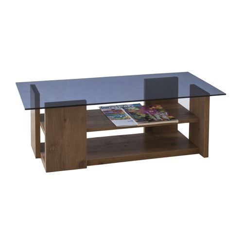 センターテーブル SO-100NA 8mm強化スモークガラス ナチュラルカラー W1000×D500×H340(mm)商品画像3