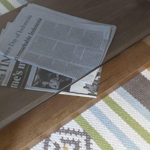 センターテーブル SO-100NA 8mm強化スモークガラス ナチュラルカラー W1000×D500×H340(mm)商品画像4