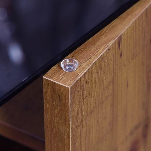 センターテーブル SO-100NA 8mm強化スモークガラス ナチュラルカラー W1000×D500×H340(mm)商品画像8