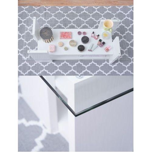 センターテーブル SO-100WH 8mm強化ガラス ホワイトカラー W1000×D500×H340(mm)商品画像5