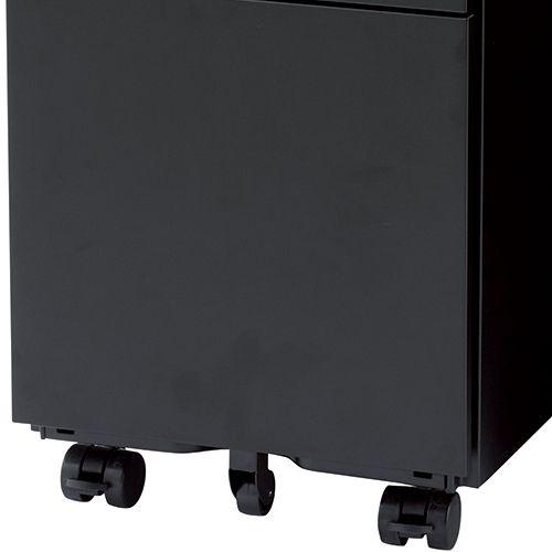 ワゴン ブラックカラー 3段 SWG-300B W300×D520×H600(mm) インワゴン3段 キャスタータイプ商品画像9