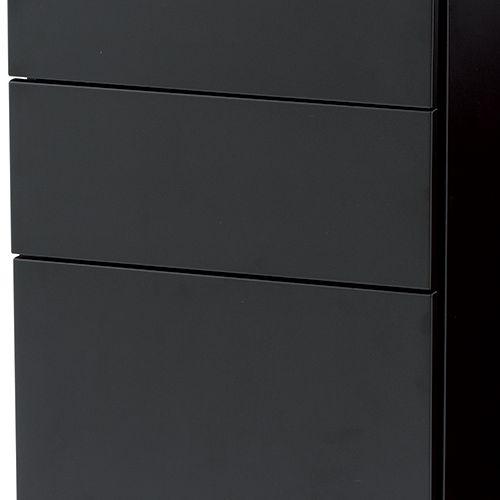ワゴン ブラックカラー 3段 SWG-300B W300×D520×H600(mm) インワゴン3段 キャスタータイプ商品画像10