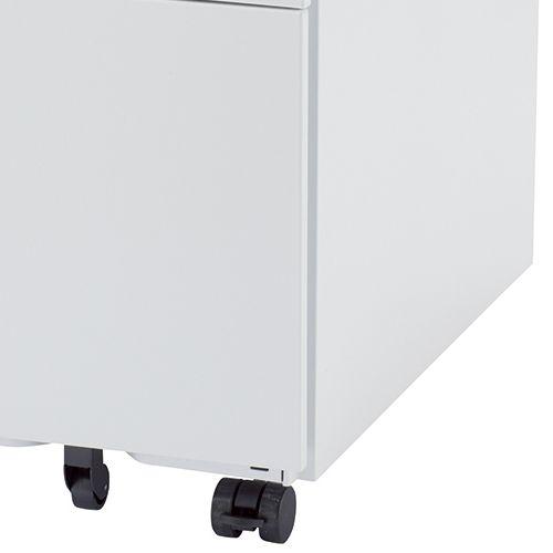 ワゴン ホワイトカラー 3段 SWG-300W W300×D520×H600(mm) インワゴン3段 キャスタータイプ商品画像8
