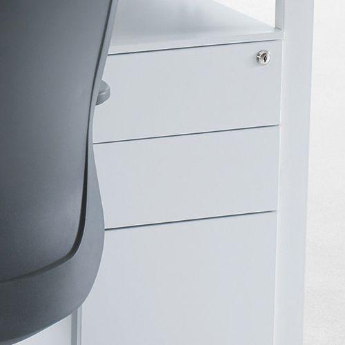 ワゴン ホワイトカラー 3段 SWG-300W W300×D520×H600(mm) インワゴン3段 キャスタータイプ商品画像10