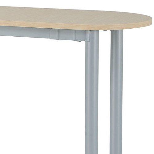 テーブル(会議用) 4本脚 サイドテーブル 半楕円形天板 T4-124S W400×D1200×H700(mm)商品画像3