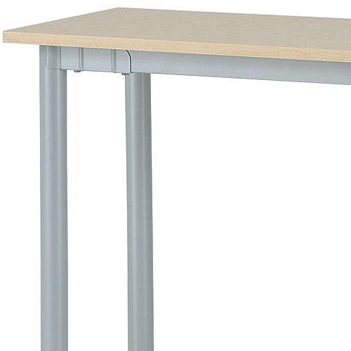 テーブル(会議用) 4本脚 サイドテーブル 半楕円形天板 T4-124S W400×D1200×H700(mm)商品画像4