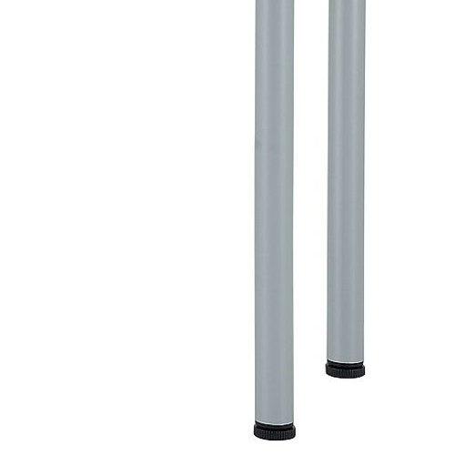テーブル(会議用) 4本脚 サイドテーブル 半楕円形天板 T4-124S W400×D1200×H700(mm)商品画像5