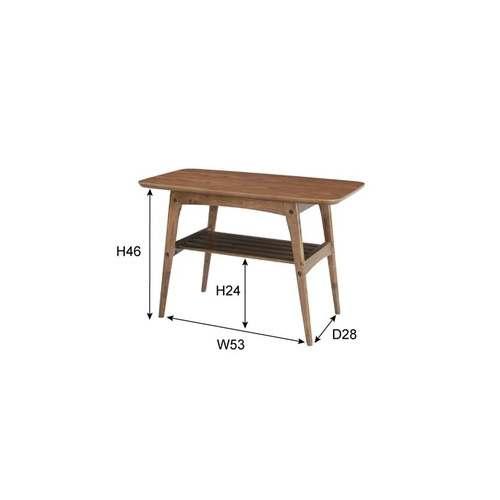 センターテーブル トムテシリーズ TAC-227WAL コーヒーテーブル W750×D400×H480(mm)商品画像2