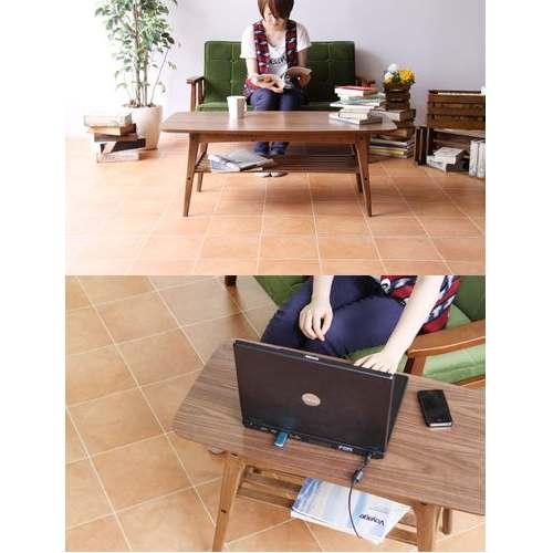 センターテーブル トムテシリーズ AZUMAYA(東谷) TAC-228WAL コーヒーテーブル W1050×D500×H400(mm)商品画像6