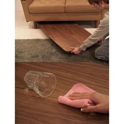 フォールディングテーブル トムテシリーズ AZUMAYA(東谷) TAC-229WAL 折りたたみテーブル W1050×D520×H350(mm)商品画像4