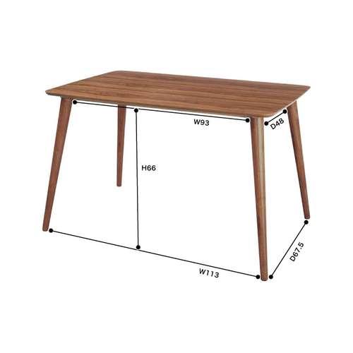 ダイニングテーブル トムテシリーズ W1200×D750×H700(mm) AZ-TAC-242WAL商品画像2