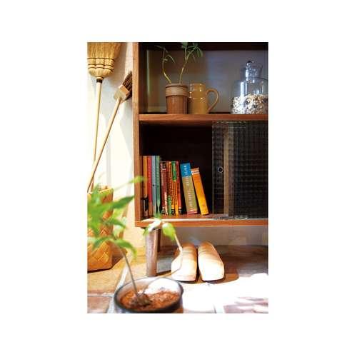 シェルフ トムテシリーズ AZUMAYA(東谷) トールシェルフ TAC-247WAL 収納棚 ガラス戸 W640×D350×H1440(mm)商品画像7