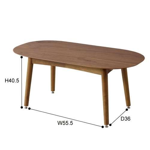 2WAYテーブル トムテシリーズ TAC-251WAL ロータイプ&ハイタイプ W1000×D500×H400・H600(mm)商品画像5