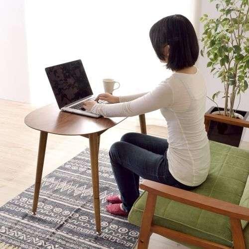 2WAYテーブル トムテシリーズ TAC-251WAL ロータイプ&ハイタイプ W1000×D500×H400・H600(mm)商品画像8