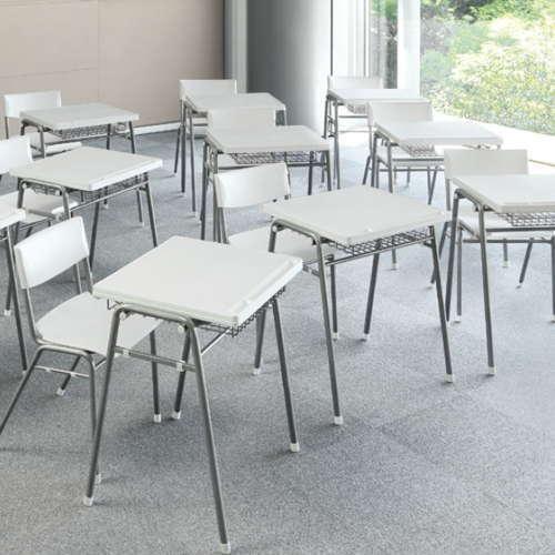 学校(スクール)家具 アイコ スクール・セミナーデスク 学習机 TMT-6052 W670×D510×H700(mm)商品画像6