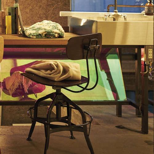 チェア(椅子) AZUMAYA(東谷) デザインチェア TTF-424BR ブラウン色商品画像9