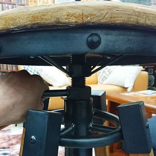 ハイスツール AZUMAYA(東谷) カペルスツール ハイタイプ TTF-818 天然木 座面高さ調整商品画像3