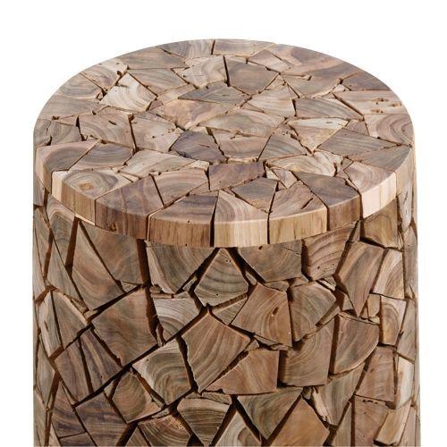 スツール AZUMAYA(東谷) ウッドスツール TTF-910A ランダムカット 天然木(チーク)商品画像2