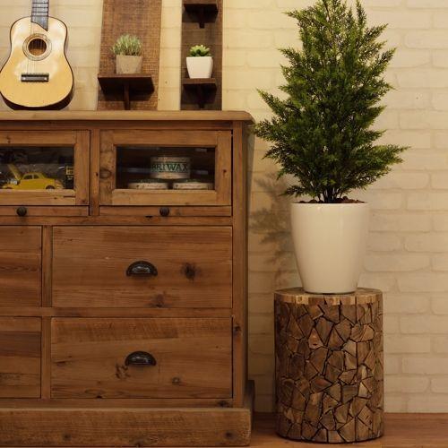 スツール AZUMAYA(東谷) ウッドスツール TTF-910A ランダムカット 天然木(チーク)商品画像3