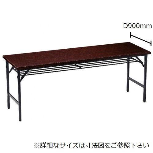 折りたたみテーブル 共貼り ワイド脚 TW-1890 W1800×D900×H700(mm)のメイン画像