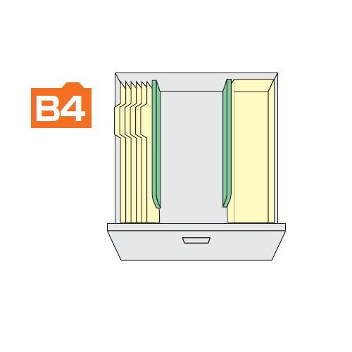 ナイキ CW型ダブル3段(2列3段)ファイル引き出し書庫用標準仕切板 2枚セット TW-FS商品画像2