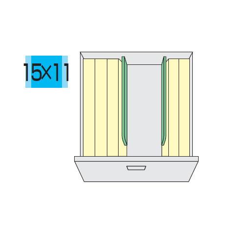 キャビネット・収納庫 CW型ダブル3段(2列3段)ファイル引き出し書庫用標準仕切板 2枚セット TW-FS商品画像3