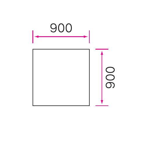 介護テーブル 天板上下昇降式 4本固定脚 UFT-0909A W900×D900×H596~796(mm)商品画像4