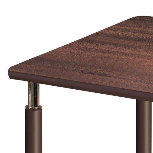 介護テーブル 天板上下昇降式 2本キャスター脚・2本固定脚 UFT-0909B W900×D900×H596~796(mm)商品画像6