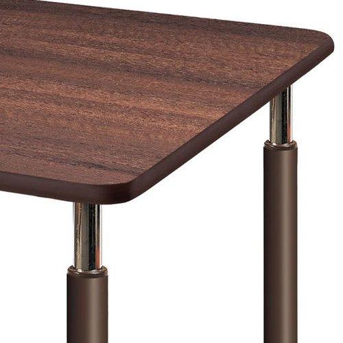 介護テーブル 天板上下昇降式 2本キャスター脚・2本固定脚 UFT-0909B W900×D900×H596~796(mm)商品画像7