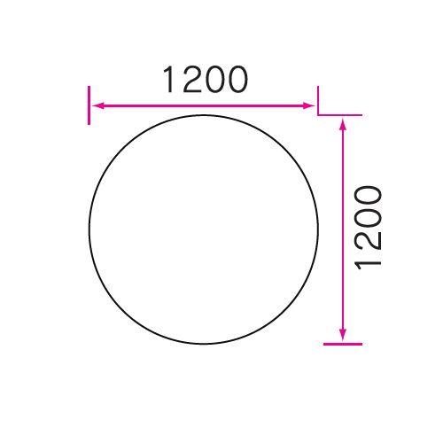 介護テーブル 天板上下昇降式 円形テーブル 2本キャスター脚・2本固定脚 UFT-1212RB φ1200×H596~796(mm)商品画像4