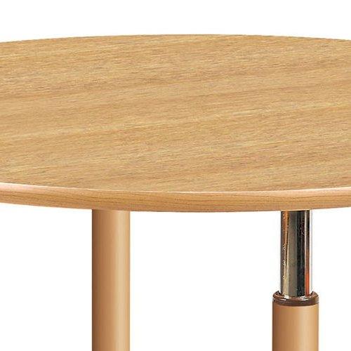 介護テーブル 天板上下昇降式 円形テーブル 2本キャスター脚・2本固定脚 UFT-1212RB φ1200×H596~796(mm)商品画像6