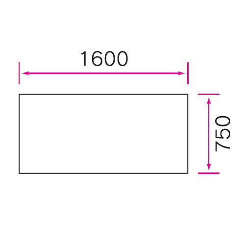 介護テーブル 天板上下昇降式 4本固定脚 UFT-1675A W1600×D750×H596~796(mm)商品画像4