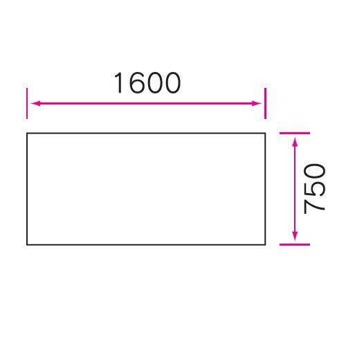 介護テーブル 天板上下昇降式 2本キャスター脚・2本固定脚 UFT-1675B W1600×D750×H596~796(mm)商品画像4
