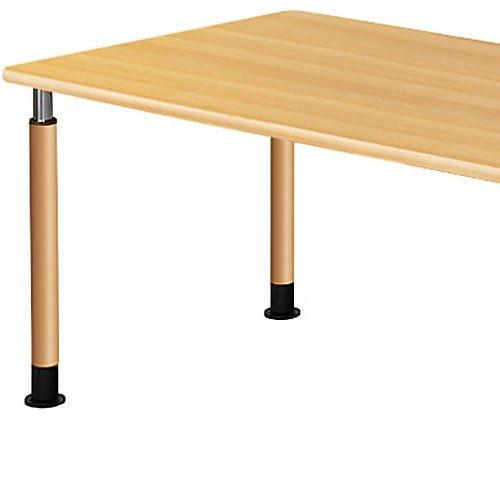介護テーブル 天板上下昇降式 2本キャスター脚・2本固定脚 UFT-1690B W1600×D900×H596~796(mm)商品画像6
