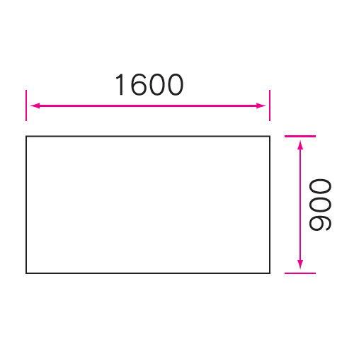介護テーブル 天板上下昇降式 4本キャスター脚 UFT-1690C W1600×D900×H596~796(mm)商品画像4
