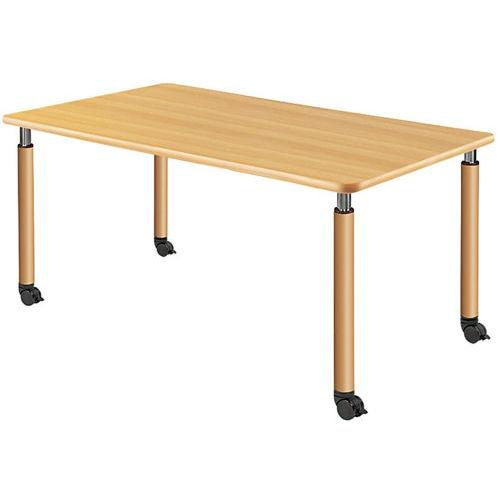 介護テーブル 天板上下昇降式 4本キャスター脚 UFT-1690C W1600×D900×H596~796(mm)のメイン画像