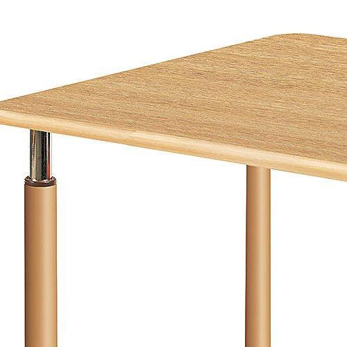 介護テーブル 天板上下昇降式 2本キャスター脚・2本固定脚(+補助固定脚1本) UFT-5T1875B W1800×D750×H596~796(mm)商品画像6