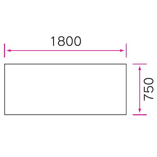 介護テーブル 天板上下昇降式 4本キャスター脚 UFT-5T1875C W1800×D750×H596~796(mm)商品画像4