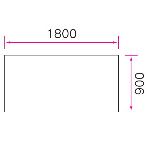 介護テーブル 天板上下昇降式 2本キャスター脚・2本固定脚(+補助固定脚1本) UFT-5T1890B W1800×D900×H596~796(mm)商品画像4