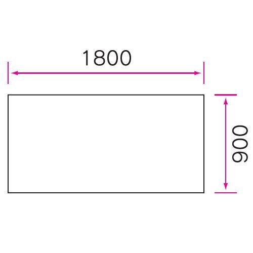 介護テーブル 天板上下昇降式 4本キャスター脚(+補助固定脚1本) UFT-5T1890C W1800×D900×H596~796(mm)商品画像4