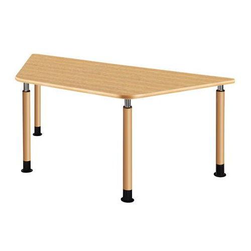 介護テーブル 天板上下昇降式 台形テーブル 4本固定脚 UFT-9018A W1800×D780×H596~796(mm)のメイン画像