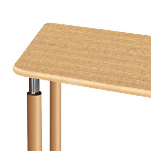 介護テーブル 天板上下昇降式 台形テーブル 4本キャスター脚 UFT-9018C W1800×D780×H596~796(mm)商品画像6
